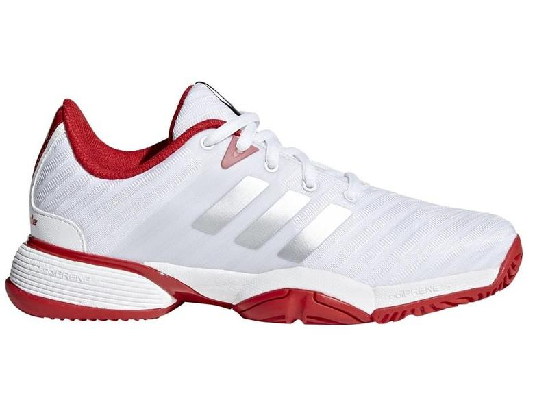 eb8f1fc81dacde Adidas Barricade 2018 xJ White Red Junior Tennis Shoes - Tennis ...