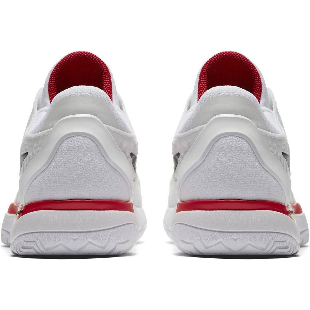 fb882acb30 Nike Zoom Cage 3 HC White/Red Men's Shoe - Tennis Topia - Best Sale ...