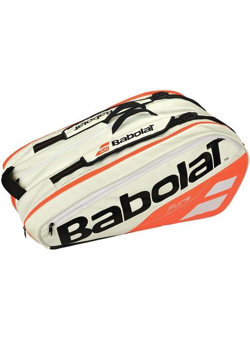 Babolat Pure Strike White/Red 12 Pack Bag 2018