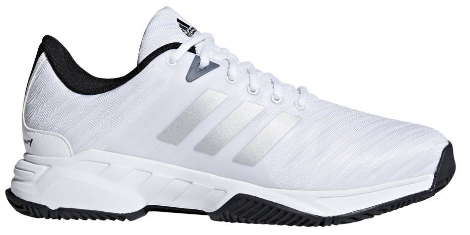finest selection 68c96 db844 ... Adidas Barricade Court 3 Wide WhiteSilver Mens Shoe