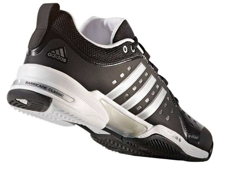 d180003be Adidas Barricade Classic Wide 4E Black Silver Men s Shoe - Tennis ...