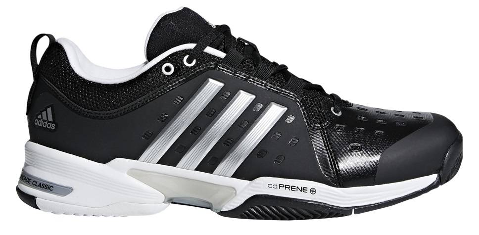 new product 19cb3 66d6d ... Adidas Barricade Classic Wide (4E) BlackSilver Mens Shoe