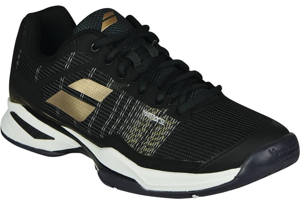 premium selection 40fc6 498d3 ... Babolat Jet Mach l Black White Champagne Men s Shoe ...