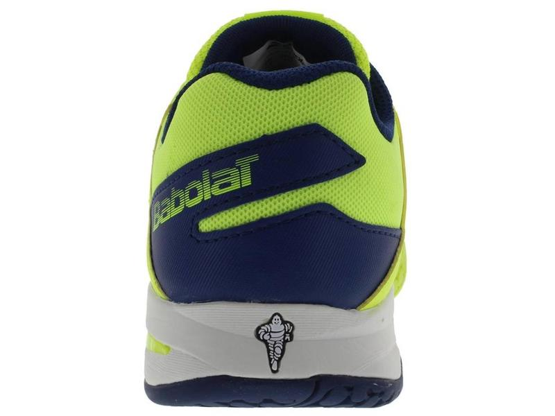 Babolat Propulse Fury Yellow/Blue Jr Shoes