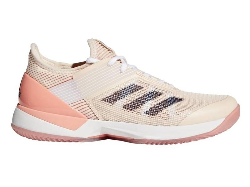 brand new 5c015 7adfd Adidas Adizero Ubersonic 3 Clay CoralIndigo Womens Shoes