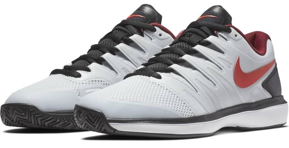 8addb6a56effc Zoom Prestige Platinum Red Men s Shoe - Tennis Topia - Best Sale ...