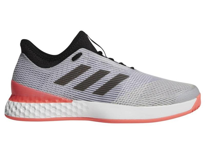 cheap for discount 58256 3fc23 Adidas Adizero Ubersonic 3 GreyFlash Red Mens Shoe