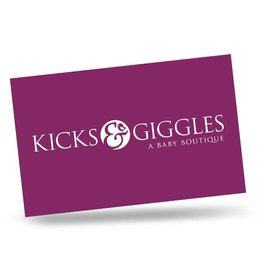 Kicks and Giggles Gift Card - In Store Redemption - Choose Amount