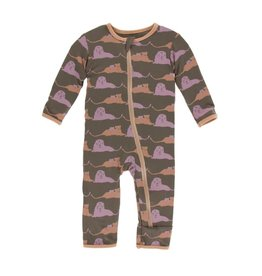 Kickee Pants Print Coverall with Zipper - Lions 6-9M