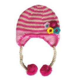 Huggalugs Daisy Chain Pink Beanie 0-6M