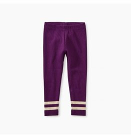 Tea Collection Sparkle Stripe Rib Baby Leggings - Cosmic Berry