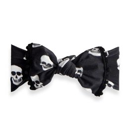 Baby Bling Bows Trimmed Printed Knot (Skelly)