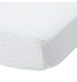 Little Unicorn Cotton Muslin Crib Sheet - Green Dot