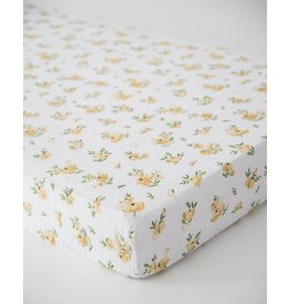 Little Unicorn Cotton Muslin Crib Sheet - Yellow Rose