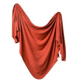 Copper Pearl Knit Blanket - Rust