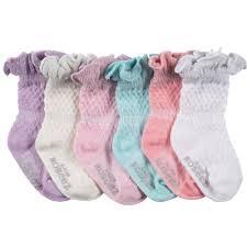 Robeez 6pk Socks - Sparkle Multi - Assorted Pastels