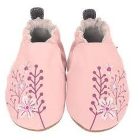 Robeez Blooming Floral Soft Soles - Light Pink