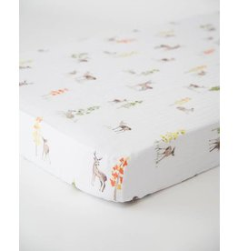 Little Unicorn Cotton Muslin Crib Sheet - Oh Deer