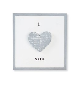 Mud Pie I Love You Barnwood Plaque