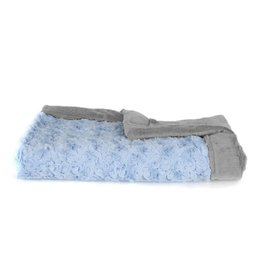 "Saranoni Receiving Blanket (30"" x 40"") Light Blue Swirl/Gray Lush"