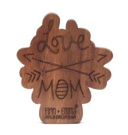 Wood Rattle Teether - Love