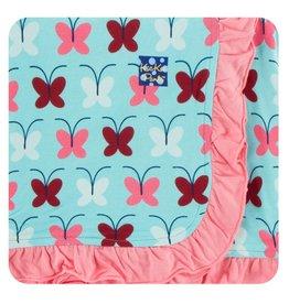 Kickee Pants Kickee Pants Ruffle Toddler Blanket: Tallulah's Butterfly