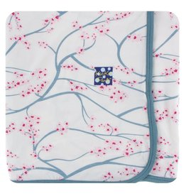 Kickee Pants Print Swaddling Blanket Natural Japanese Cherry Tree