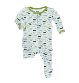 Kickee Pants Print Footie: Boy Dino Print: 2T