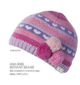 Millymook and Dozer Baby Girl Beanie - Bethany Purple