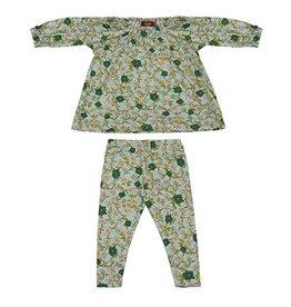 Milkbarn Kids Bamboo Dress & Legging Set - Blue Floral 3-6M