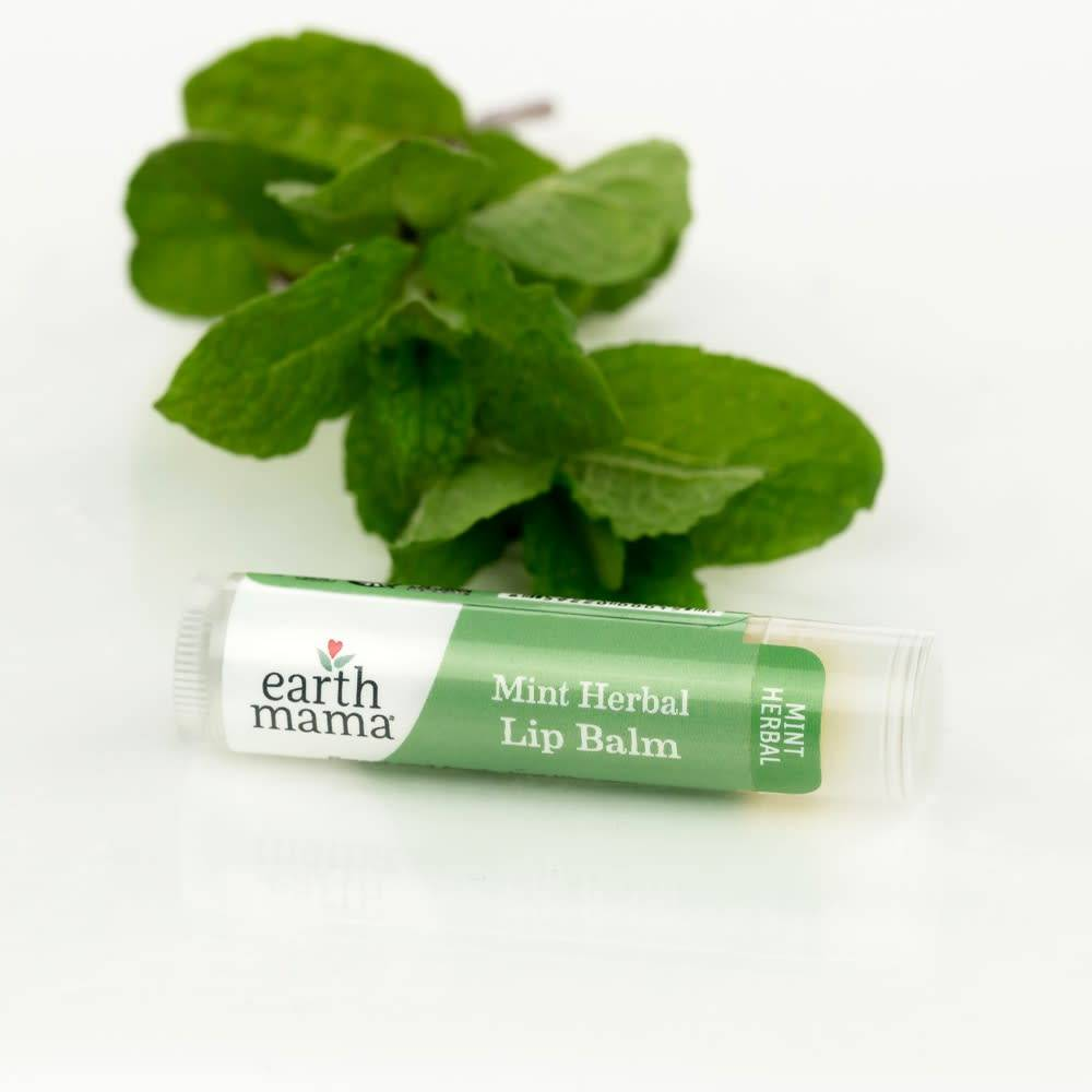 Earth Mama Organics Mint Herbal Lip Balm