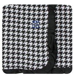 Kickee Pants Print Ruffle Toddler Blanket Zebra Houndstooth - One Size