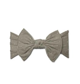 Baby Bling Bows Patterned Knot - Taupe Dot