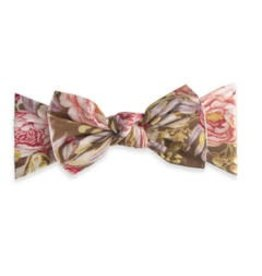 Baby Bling Bows Printed Knot (Gold Leaf Peony)