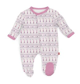 Magnetic Me Pink Foxy Fair Isle Modal Magnetic Footie