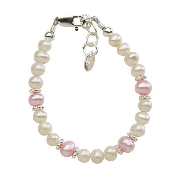 Cherished Moments Addie - (SM) Pink/white Swarovski and pink freshwater pearls