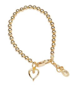 Cherished Moments Aria - SM (0-12) 14K Gold Plated Bracelet with Heart