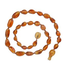 Cherished Moments Baltic Amber Beads Necklace - Honey Polished, Small