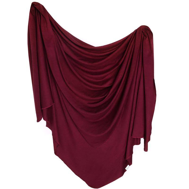 Copper Pearl Knit Blanket - Ruby