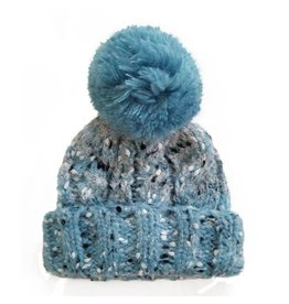 Huggalugs Shades of Blue Tweed Beanie 6-24m