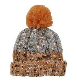 Huggalugs Brown Orange Tweed Beanie 6-24m