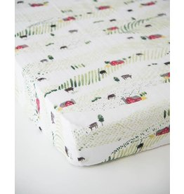 Little Unicorn Cotton Muslin Fitted Sheet - Rolling Hills