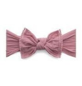 Baby Bling Bows Trimmed Classic Knot (Mauve Pom)