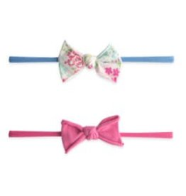 Baby Bling Bows Mini Print Skinny 2pk (Tiny Spring/Hot Pink)