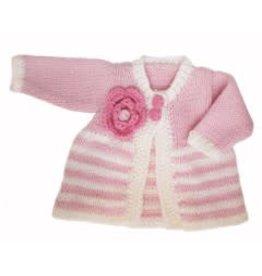 Huggalugs Ziggy Parfait Pink/Cream Sweater