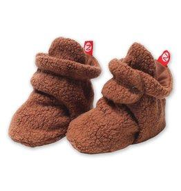 Zutano Cozie Fleece Bootie - Chocolate 3M