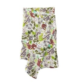 Lou Lou Lollipop Muslin Swaddle Sloth