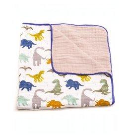 Little Unicorn Cotton Muslin Quilt - Dino Friends