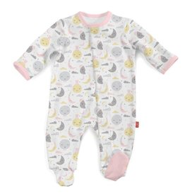Magnetic Me Magentic Pink To The Moon Footie 0-3M