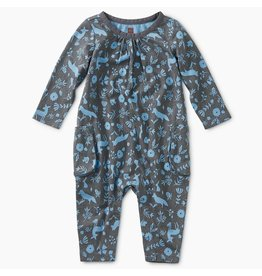 Tea Collection Flora and Fauna Pocket Romper